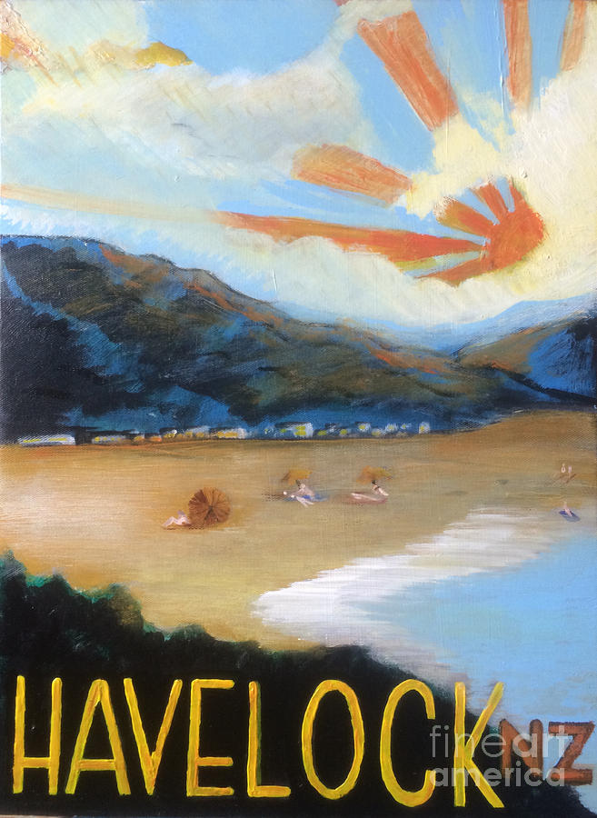 New Zealand Painting - Welcome To Havelock New Zealand by Michelle Deyna-Hayward