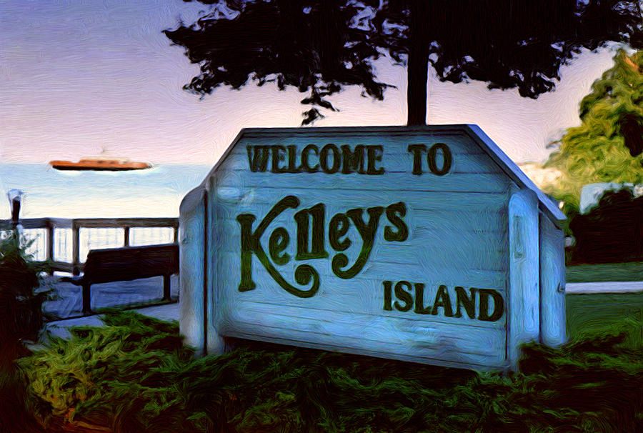 Welcome To Kelleys Island Painting