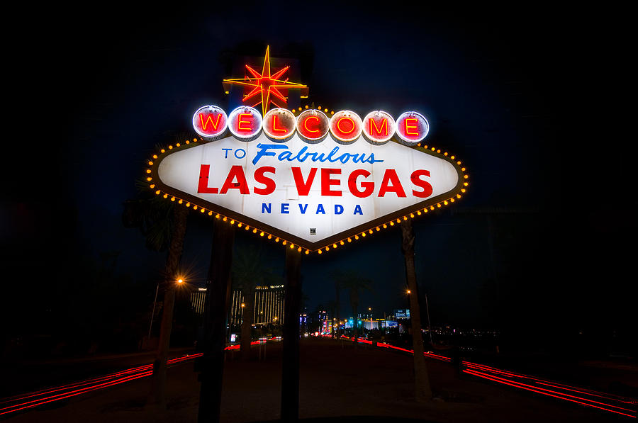 Casino Photograph - Welcome To Las Vegas by Steve Gadomski