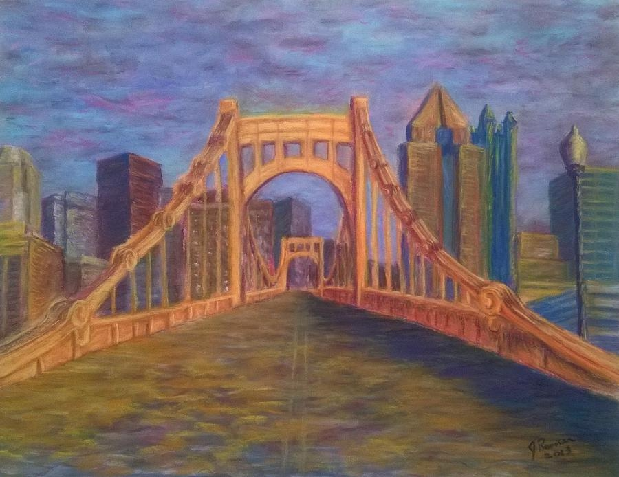 Pittsburgh Pastel - Welcome To Pittsburgh by Joann Renner