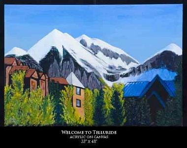 Landscape Painting - Welcome To Telluride by Robert Newport