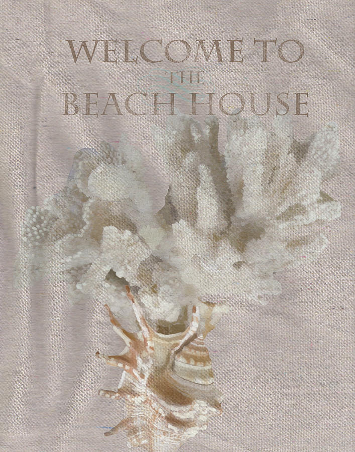 Welcome To The Beach House Painting