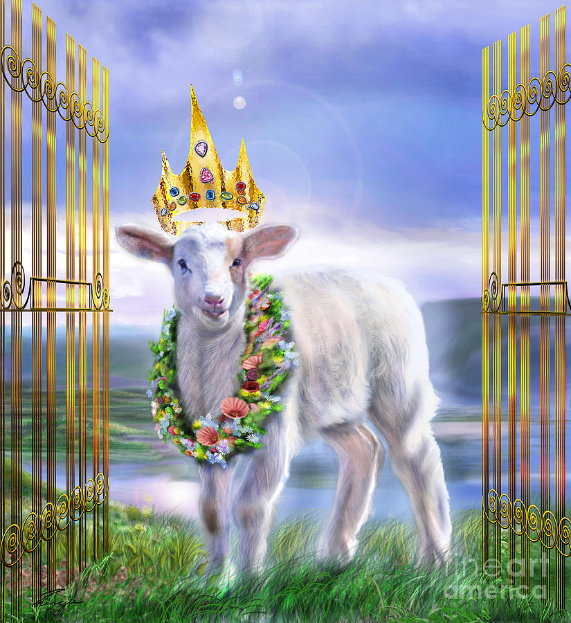 The Lamb Of God Painting - Welcome To The Kingdom by Reggie Duffie