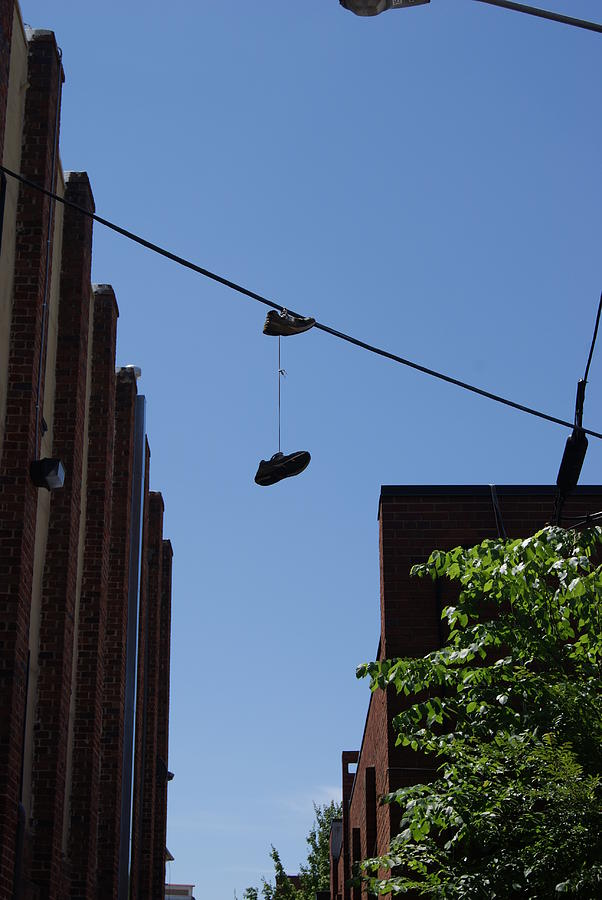 Shoes Photograph - Welcome To The Neighborhood by Vince Gladin