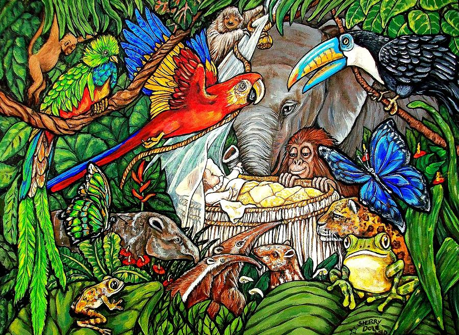Welcome To The World In A Rain Forest Painting By Sherry Dole