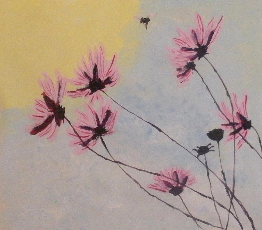 Flowers Painting - Welcomed Visitor by Mats Eriksson