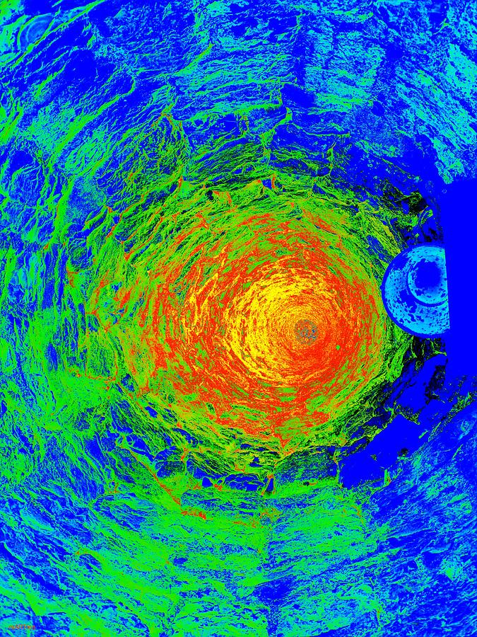 Well Abstract Ultraviolet Digital Art