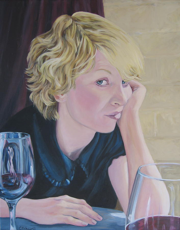 Portrait Painting - Well by Connie Schaertl