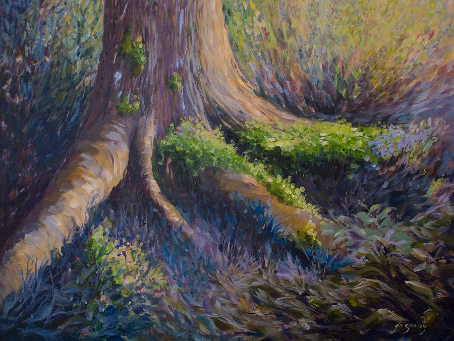 Forest Floor Painting - Well Grounded by Joanne Smoley