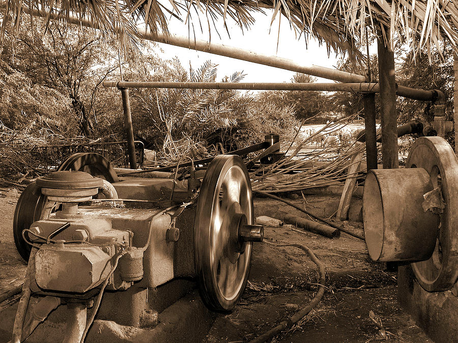 Sepia Photograph - Well Pump by Graham Taylor