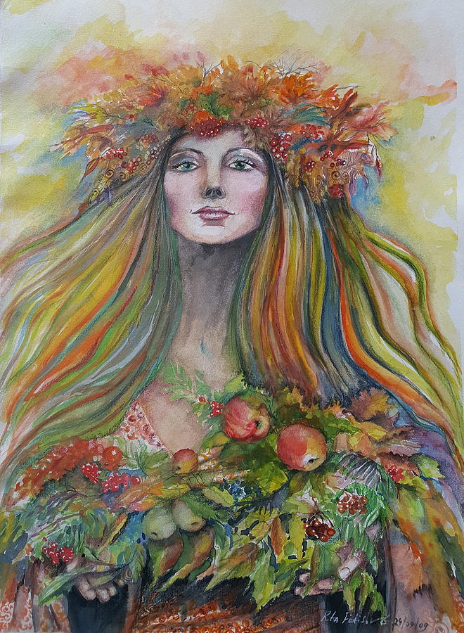 Autumn Painting - Welcome To Autumn by Rita Fetisov
