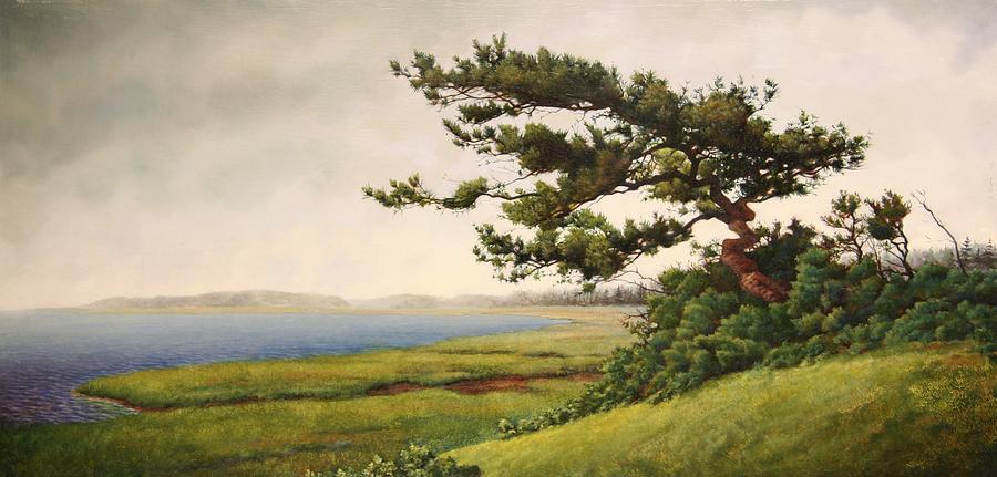 Cape Cod Painting - Wellfleet Saltmarsh by Stephen Bluto