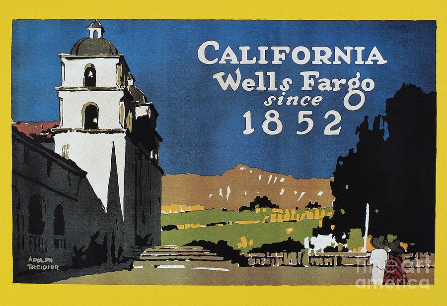 1852 Photograph - Wells Fargo Banner, 1917 by Granger
