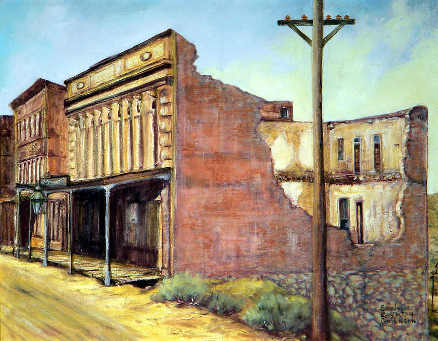 West Painting - Wells Fargo Virginia City Nevada by Evelyne Boynton Grierson