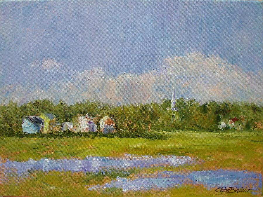Wells  Maine Painting by Elaine Bigelow