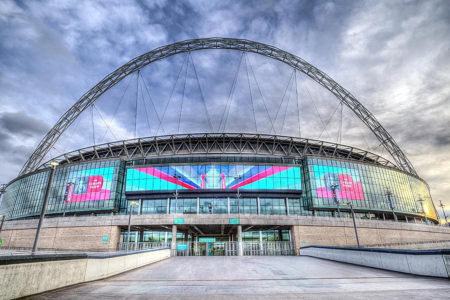 Wembley Stadium Photograph - Wembley Stadium Wembley Way by David Pyatt