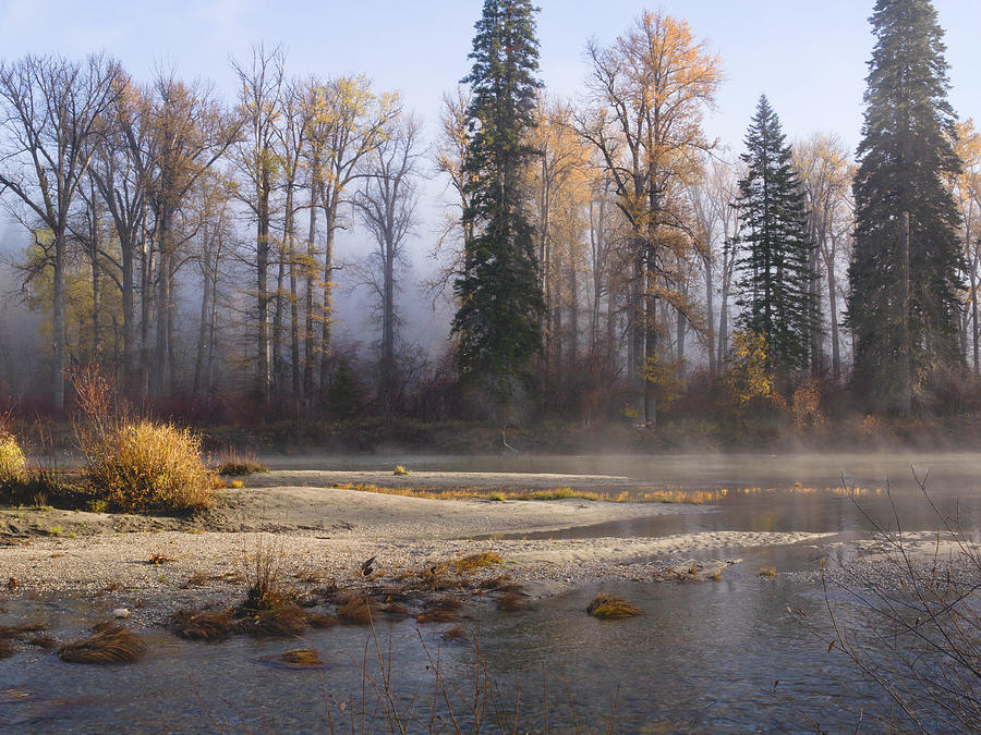 Landscape Photograph - Wenatchee River, Fall 2015 by David Simmer