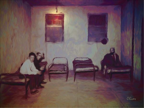 Impressionism Mixed Media - Were In The Jailhouse Now by Charles Oliver