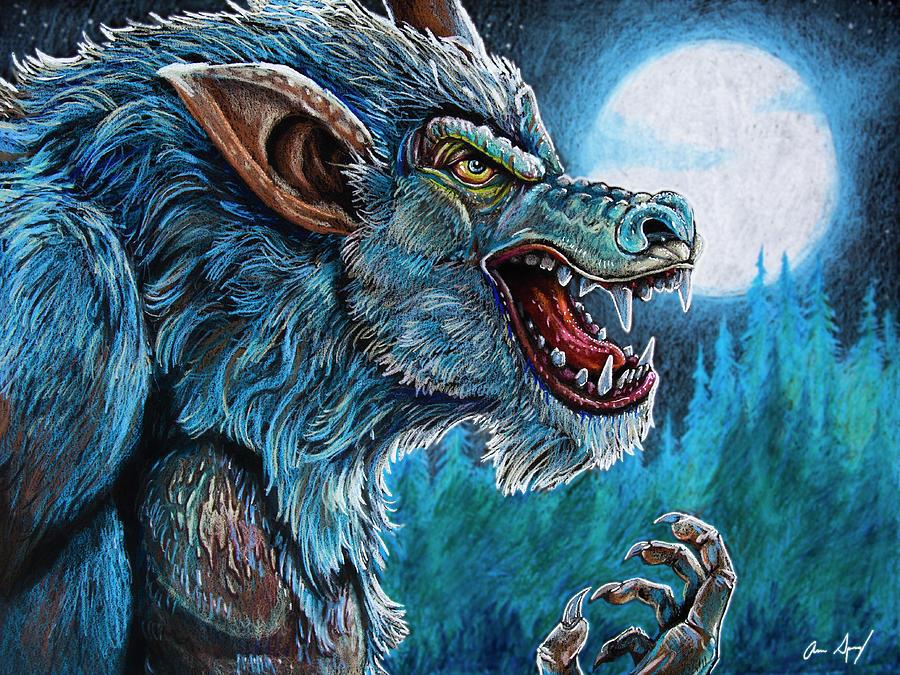 Werewolf Drawing by Aaron Spong