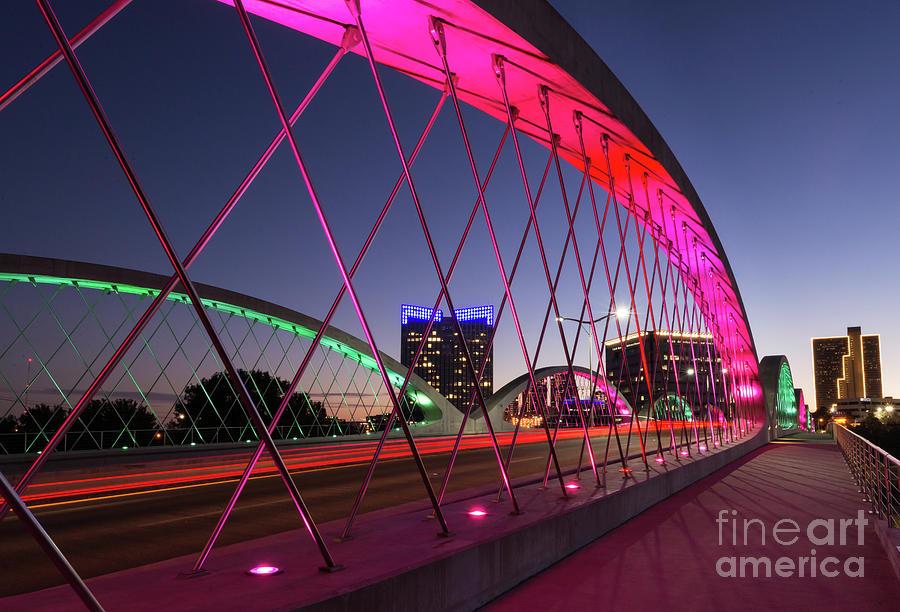 Fort Worth Photograph - West 7th Street Bridge by Paul Quinn