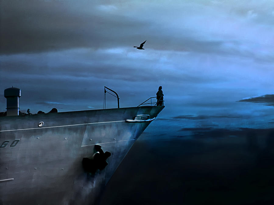 Ship Photograph - West Across The Ocean by Joachim G Pinkawa