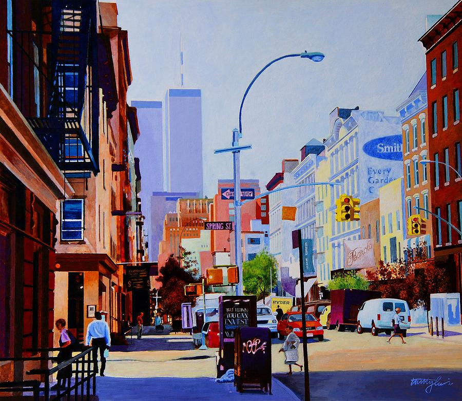 Spring Street Painting - West Broadway by John Tartaglione