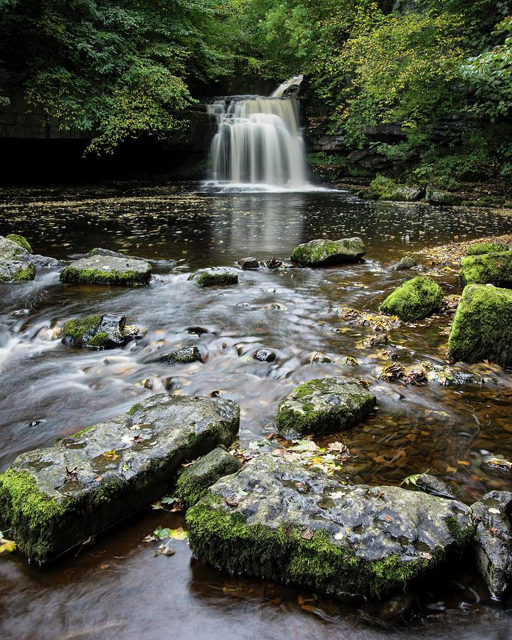 Yorkshire Photograph - West Burton Falls, Yorkshire, England by David Stanley