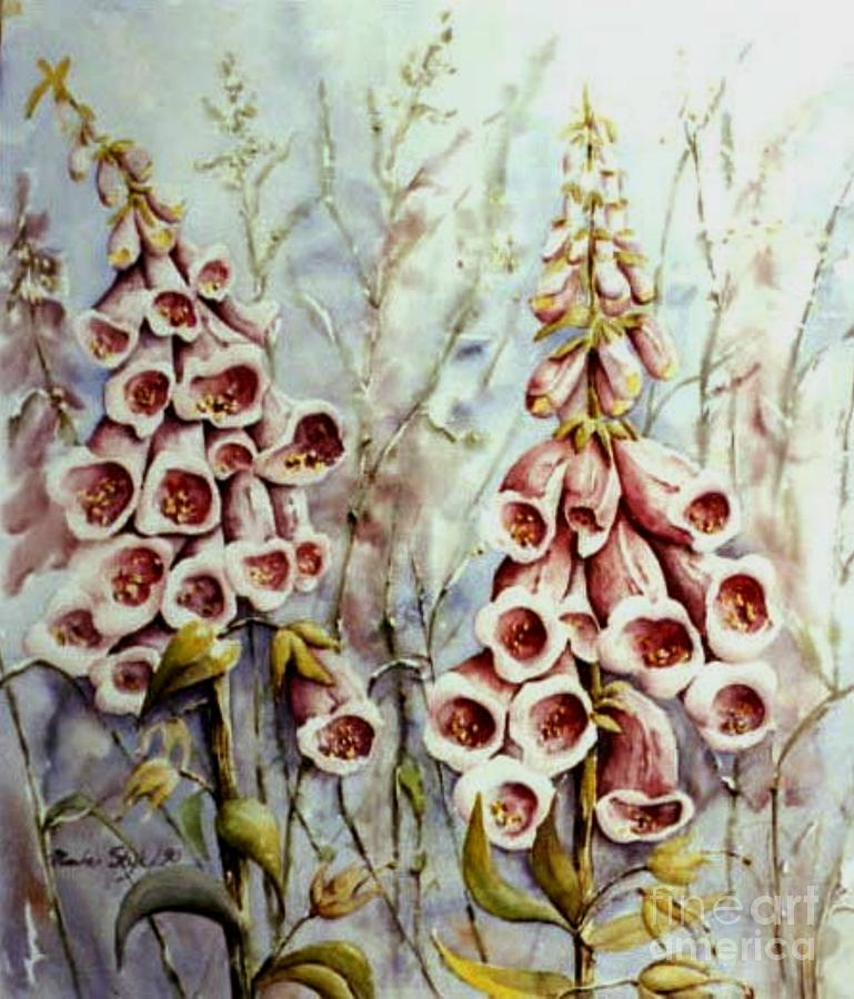 Red Bells Painting - West Coast Beauty by Marta Styk