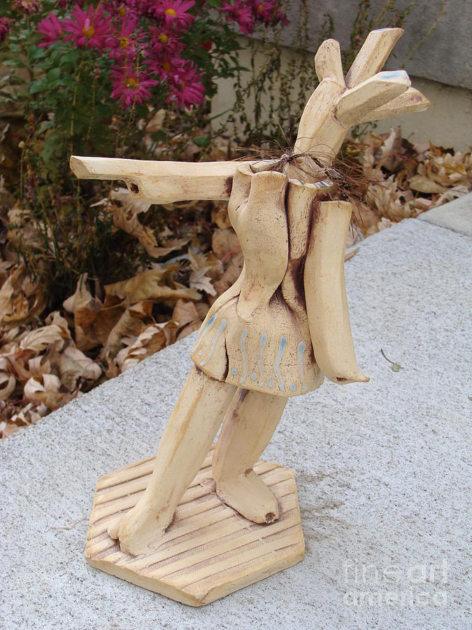 Clay Sculpture Sculpture - West Coast Dancer by Christine Belt