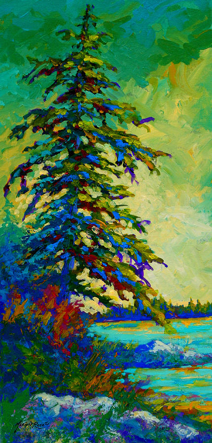 West Coastal Painting - West Coast Sentinel by Marion Rose