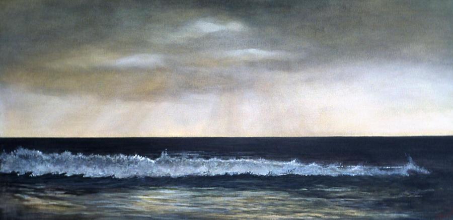 Stormy Sky Painting - West Coast by Victoria Heryet