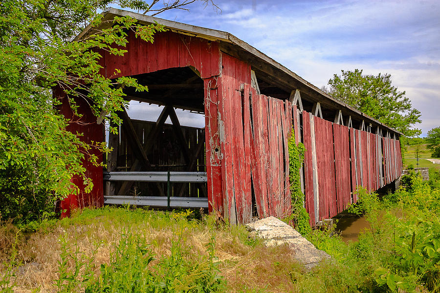 West Engle Mill Road Covered Bridge Photograph
