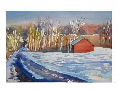 West Farm Road Walk Painting by Wendy Clark