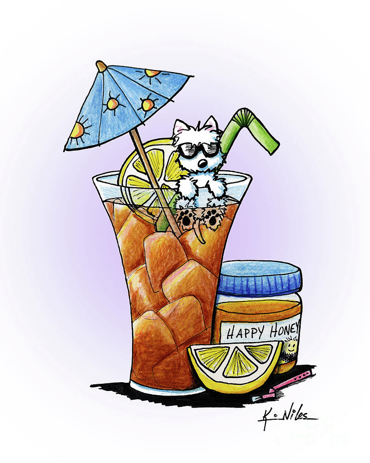 Beverage Drawing - West Highland Iced Tea by Kim Niles