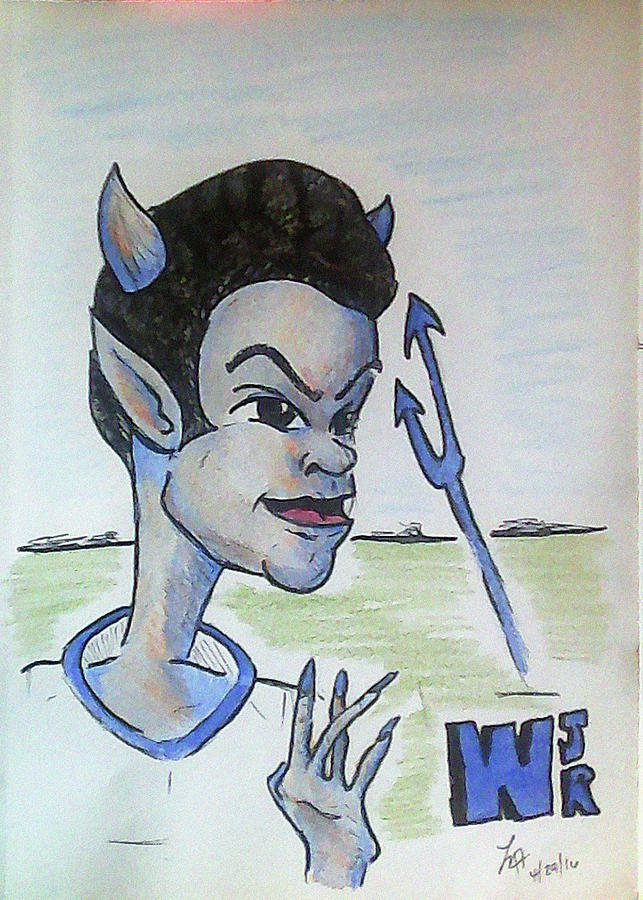 Imps Drawing - West Jr by Loretta Nash