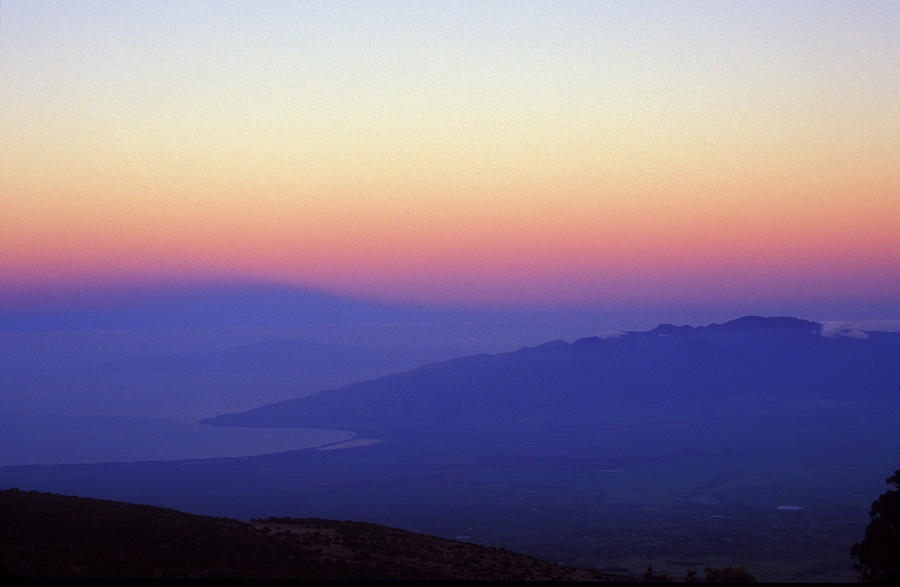 Hawaii Photograph - West Maui At Dawn From Haleakala by John Burk