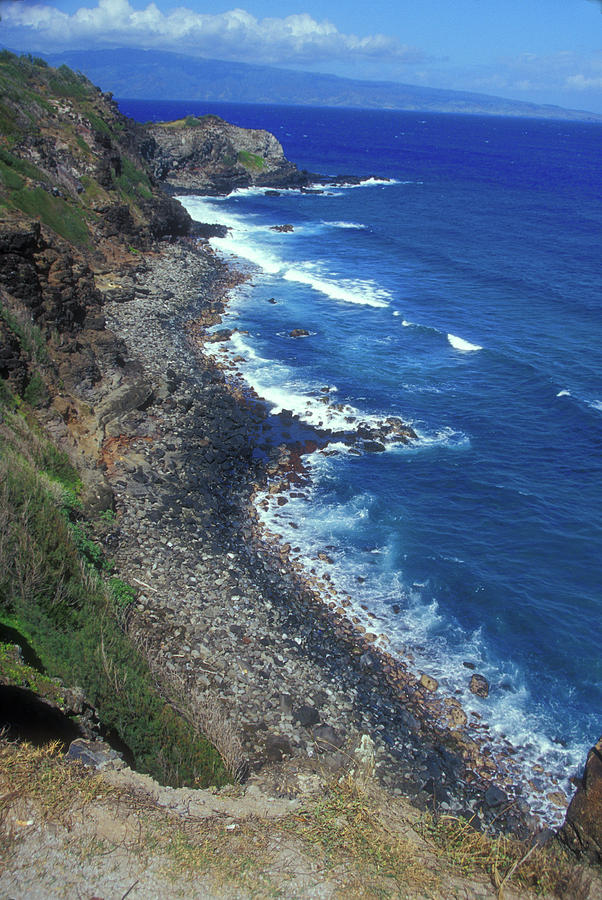 Hawaii Photograph - West Maui Coast Overview by John Burk
