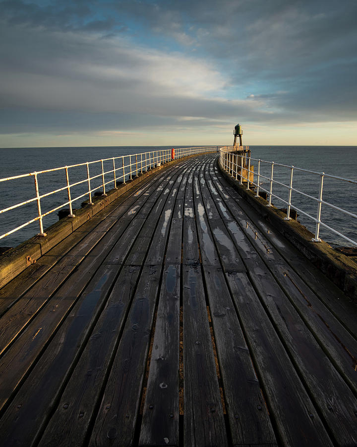 West Pier Photograph - West Pier, Whitby, England by David Stanley