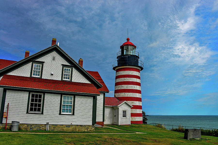 West Quoddy Head Lighthouse, Maine by Marilyn Burton