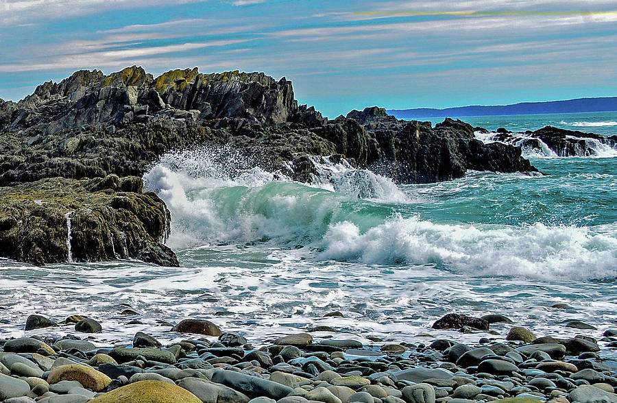 West Quoddy Seascape, Maine by Marilyn Burton