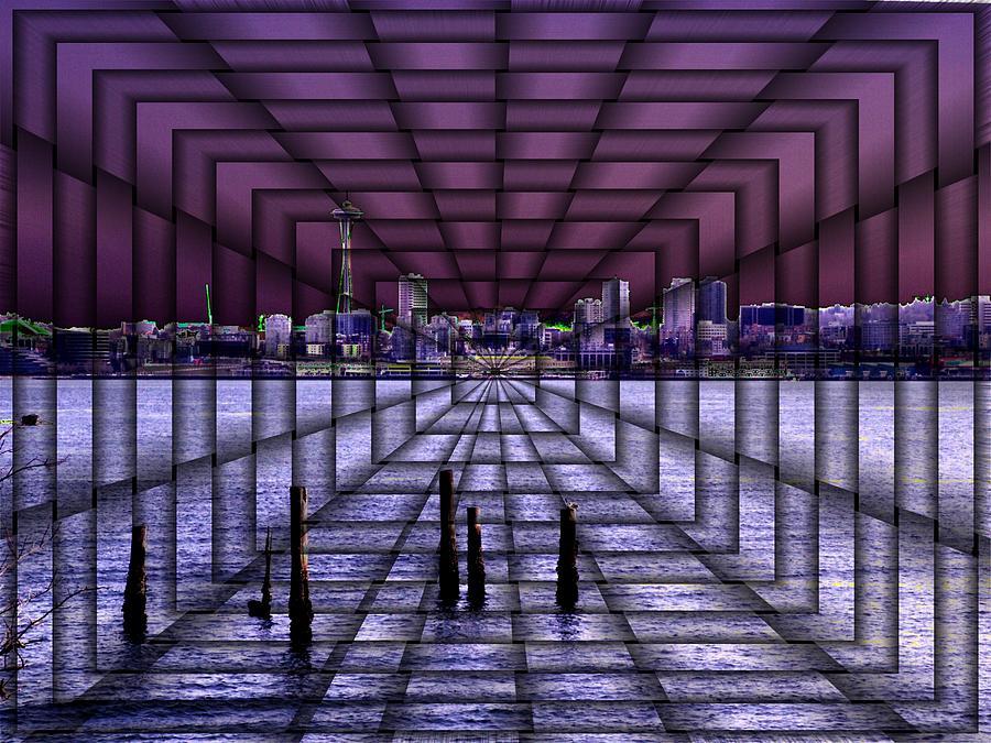 Washington Digital Art - West Seattle Vortex by Tim Allen