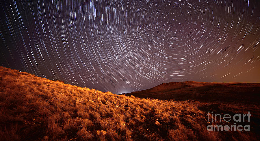 Stars Photograph - West Side Volcano by Brian Spencer