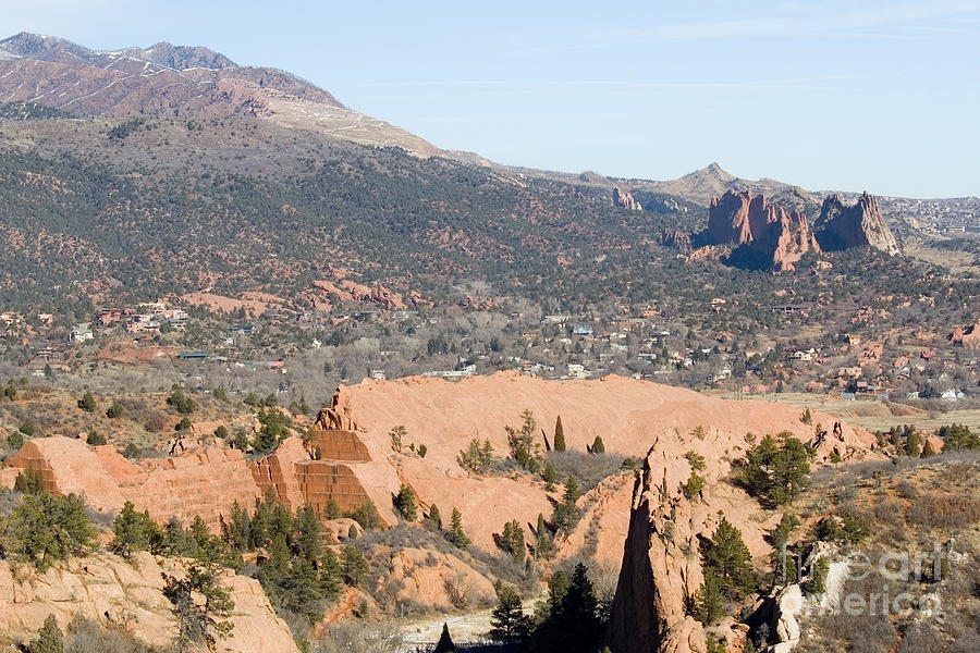 West Springs And Distant Garden Of The Gods Photograph