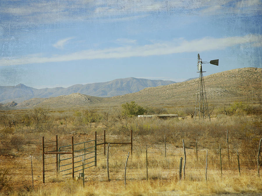 Ranch Photograph - West Texas Ranch Scene II by Charles McKelroy