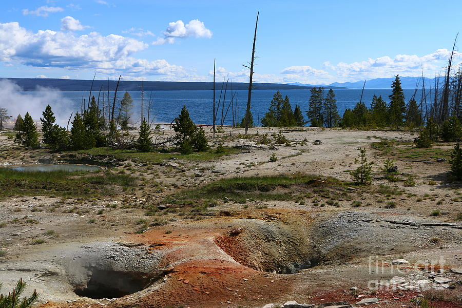 Sunlight Photograph - West Thumb Geyer At Yellowstone Lake by Christiane Schulze Art And Photography