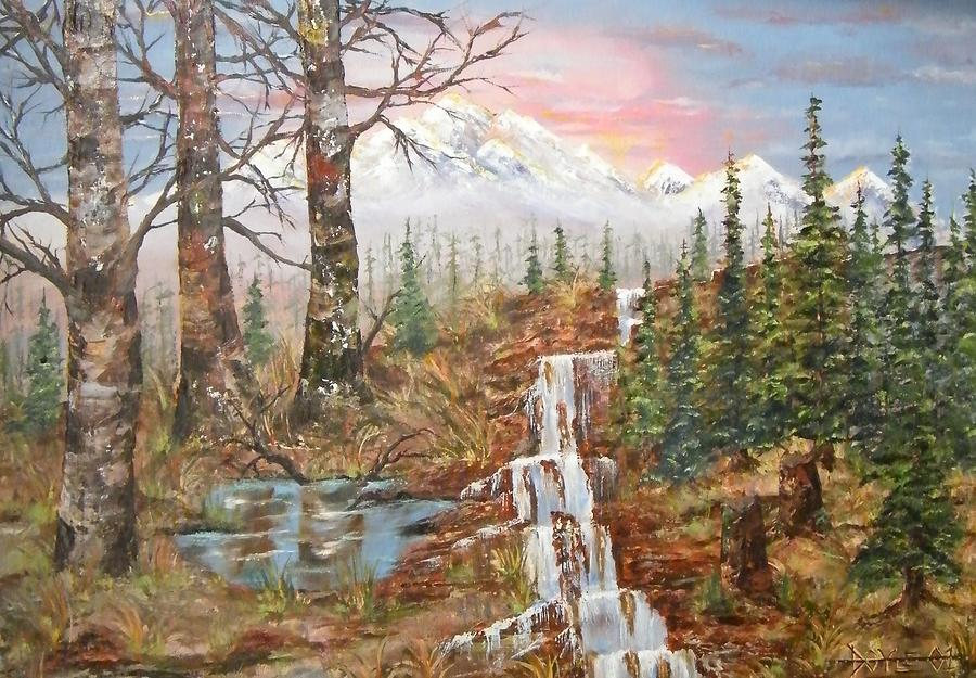West Tortuga Falls Painting by Larry Doyle