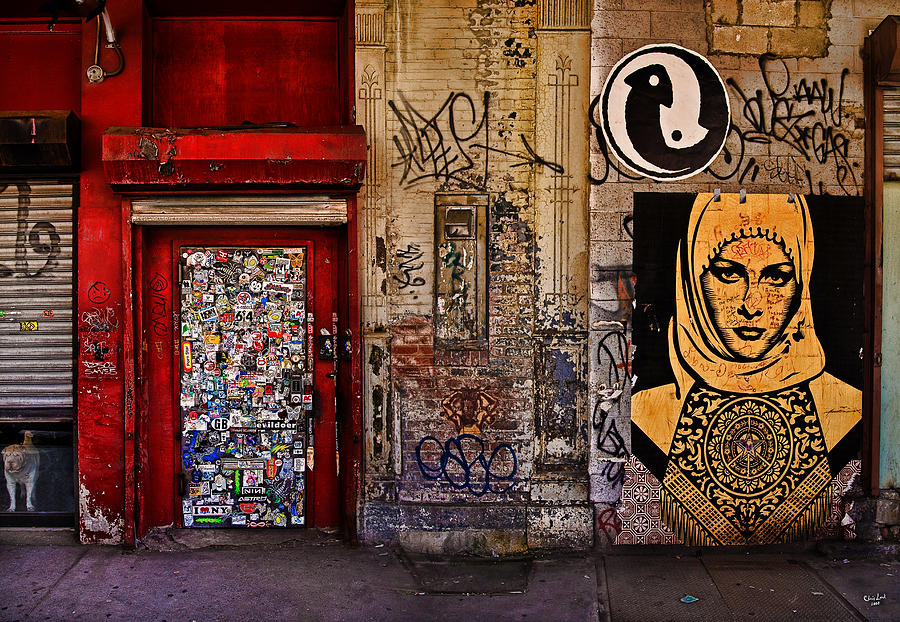 Graffitti Photograph - West Village Wall Nyc by Chris Lord
