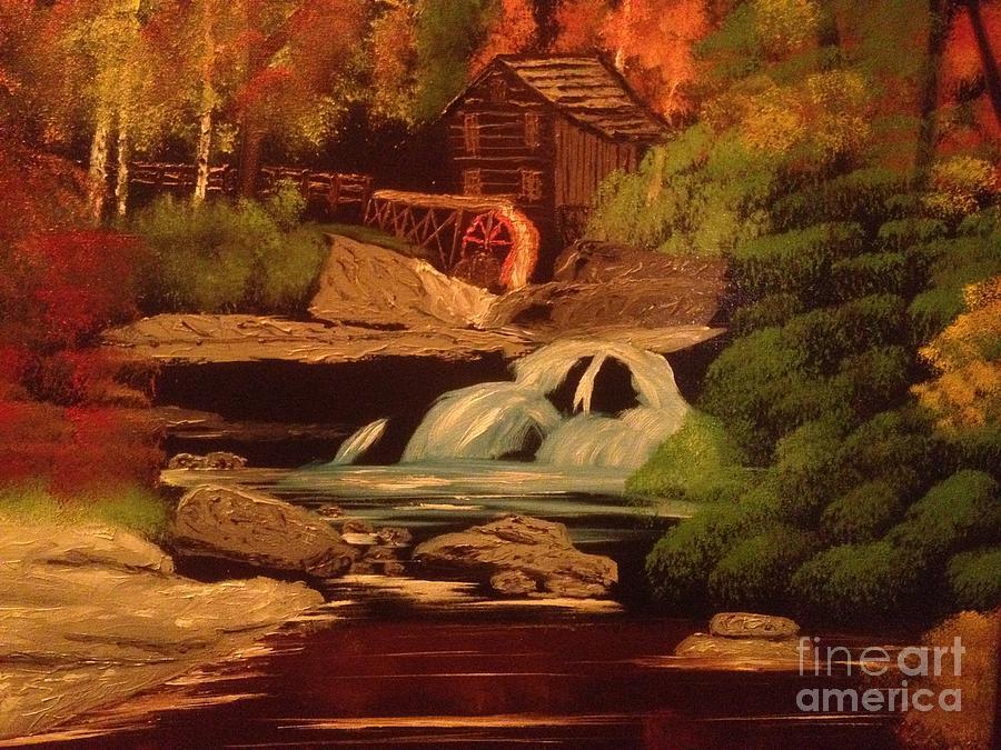 Original Painting - West Virginia Grist Mill by Tim Blankenship