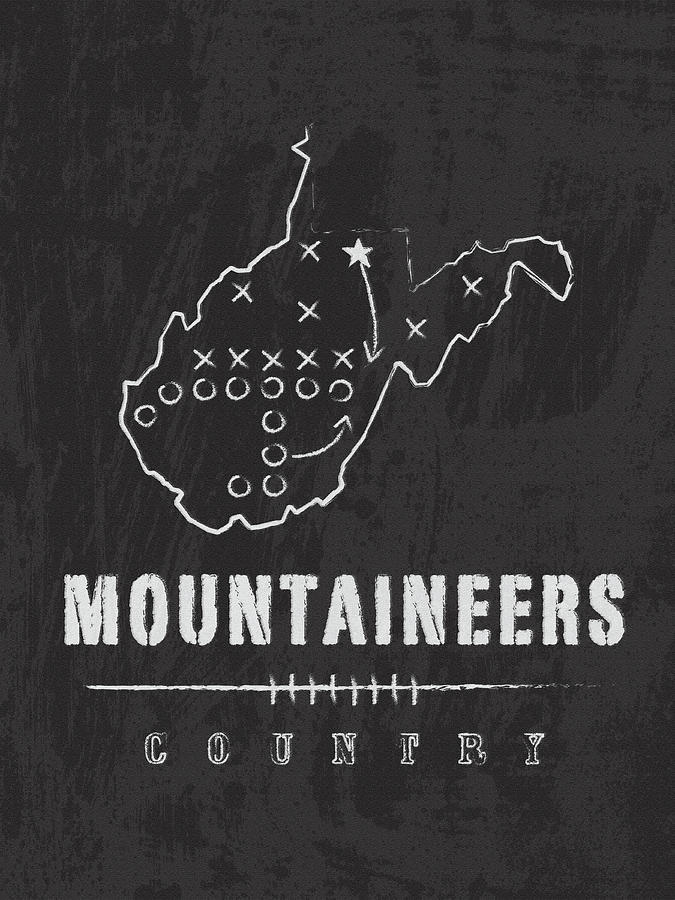 West Virginia Mountaineers Country by Damon Gray