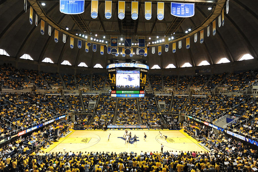 Wvu Photograph - West Virginia Mountaineers Wvu Coliseum by Replay Photos